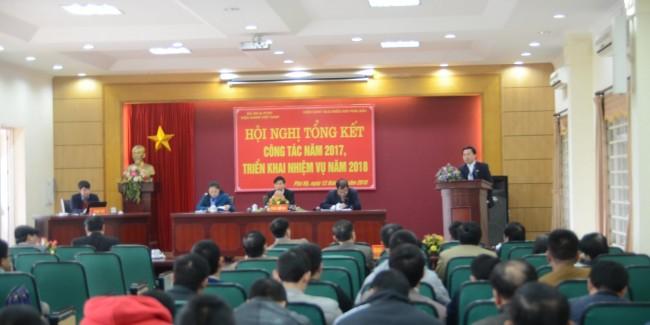 Hội nghị tổng kết công tác năm 2017 và triển khai nhiệm vụ năm 2018