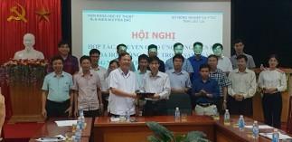 Lễ ký kết hợp tác KHCN với Sở NN và PTNT Lào Cai