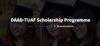 Học bổng ThS chương trình tiên tiến quốc tế DAAD-TUAF